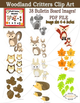 Fall Critters Bulletin Board Clip Art