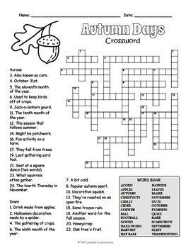image relating to 4th Grade Crossword Puzzles Printable called Slide Crossword Puzzle Worksheet - 4 Types