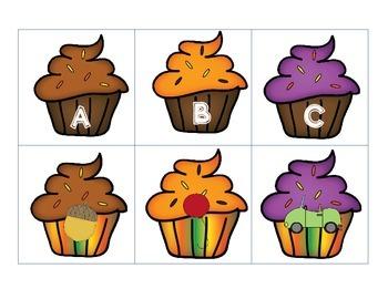 Fall Cupcakes Beginning Sounds