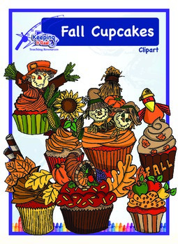 Fall Cupcakes (Black-lined images included