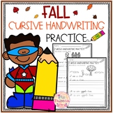 Fall Cursive Handwriting Practice