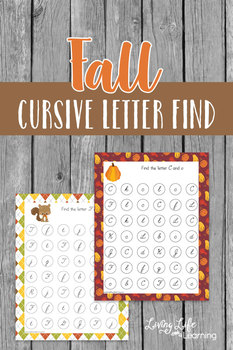 Fall Cursive Letter Find