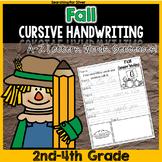 Fall Cursive Writing No-Prep
