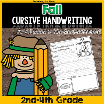 Fall Cursive Writing No-Prep