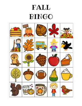 Fall Bingo Custom Printables