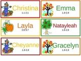 Fall Customizable Bookmarks