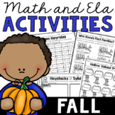 Fall Cut and Paste Activities (Math and ELA)