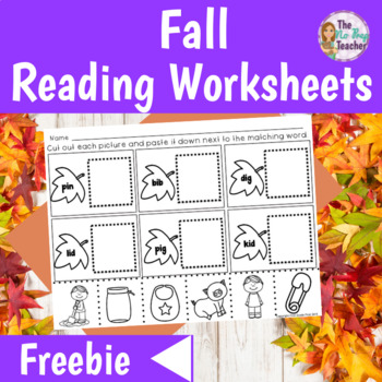 Reading Worksheets for Fall Cut and Paste
