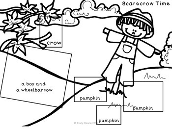 Fall Cut and Paste Language Development Printables