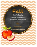 Fall Cut and Paste Math Problems