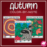 Music Color-by-Note Fall pages | Coloring Worksheets for Music