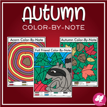 Fall DRAW & COLOR-by-Note, Music Note, Beats, Dynamics, Tempo