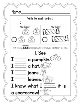 Fall Daily Common Core Morning Work or Homework Pack Bundle