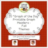 Fall Daily Graph Printables - 20 Full-Color Graph Questions