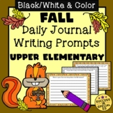 Fall Autumn Daily Journal Writing Prompts for Upper Elementary
