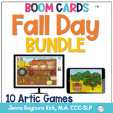 Fall Day BOOM Cards™️ BUNDLE for Distance Learning Speech Therapy