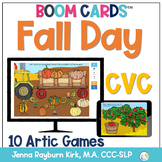 Fall Day: CVC BOOM Cards™️  for Distance Learning Speech Therapy