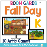 Fall Day: K Sound BOOM Cards™️  for Distance Learning Spee