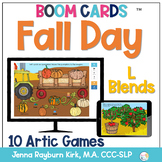 Fall Day: L Blends BOOM Cards™️  for Distance Learning Spe