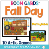 Fall Day: Multisyllable Words BOOM Cards™️  for Distance L