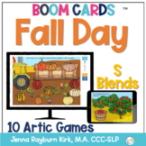 Fall Day: S Blends BOOM Cards™️  for Distance Learning Spe