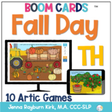 Fall Day: TH Sound BOOM Cards™️  for Distance Learning Speech Therapy