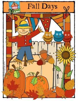 Fall Days {P4 Clips Trioriginals Digital Clip Art}