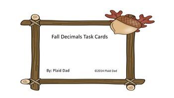 Fall Decimals Task Cards