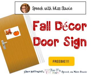 Fall Décor Door Sign