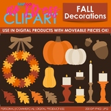 Fall Decorations Clip Art (Digital Use Ok!)