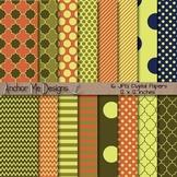 Fall Delight Quatrefoil, Chevron, Polka Dot & Striped Paper Pack
