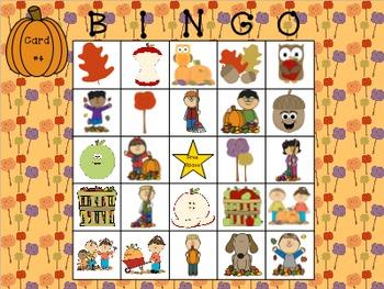 Fall Describing Bingo
