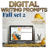 Fall Descriptive Writing Prompts Digital (Digital Google Drive Edition)