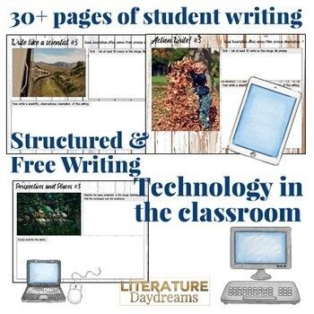 Fall Descriptive Writing Prompts Digital (Digital Google Drive Edition)
