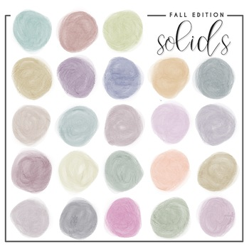 Fall Design Clip Art - Watercolor Circles