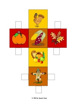 Fall Dice Speech Therapy Game