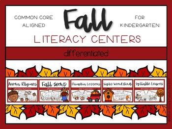 Fall Differentiated Literacy Centers