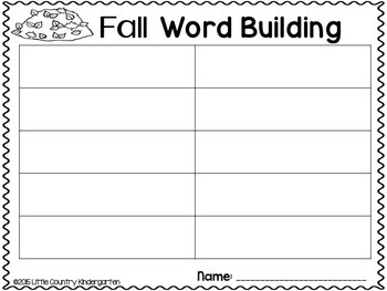 Fall Literacy Centers Bundle: Differentiated Clipcards, Games, and More