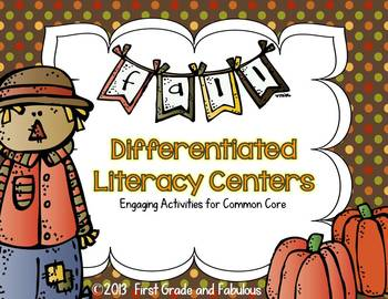 Fall Differentiated Literacy Stations: Engaging Activities