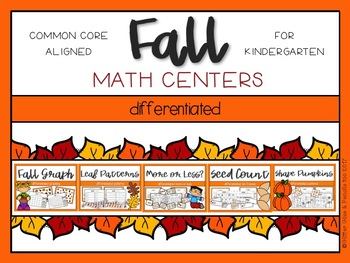 Fall Differentiated Math Centers