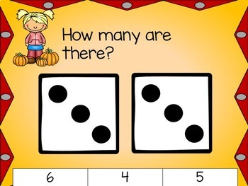 Fall Differentiated Math Centers Bundle: Clipcards, Ten Frames, & Dice