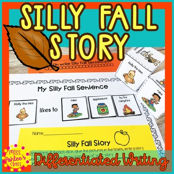 Fall Differentiated Writing Activity | Special Education and Autism Resource