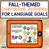 Fall Digital Speech Therapy Activities for Language Teletherapy