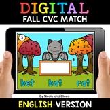 Fall Digital CVC Word Work for Google Classroom 2 - Distan