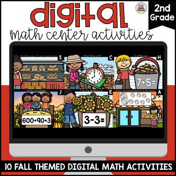 Fall Digital Math Centers Second Grade