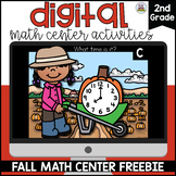 Fall Digital Math Centers Second Grade *FREEBIE*