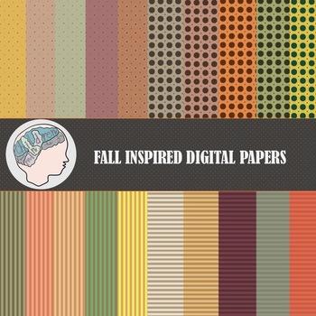 Fall Digital Paper / Autumn Digital Paper