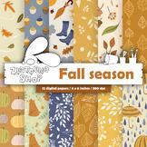 Fall Digital Paper Autumn Digital Paper Autumn Digital Bac