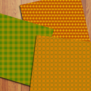 Fall Digital Papers / Autumn Backgrounds / Autumn Papers Commercial Use