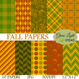Fall Digital Papers / Autumn Backgrounds / Autumn Papers C